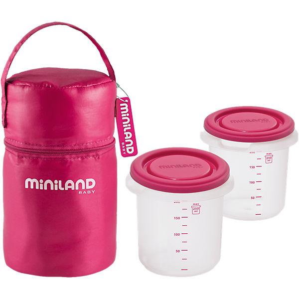 Термосумка с 2-мя мерными стаканчиками, HERMISIZED, розовый
