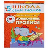 """Дошкольные прописи, """"Шестой год обучения"""", Школа Семи Гномов"""