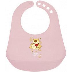 Пластиковый нагрудник, Canpol Babies, розовый