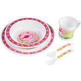 Набор посуды, Canpol, розовый