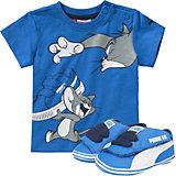 PUMA Tom & Jerry Crib Pack Baby T-Shirt und Krabbellschuhe