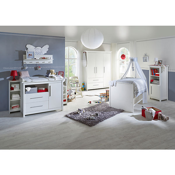 komplett kinderzimmer castello 3 tlg kinderbett wickelkommode breit und 3 t riger. Black Bedroom Furniture Sets. Home Design Ideas
