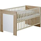 Kinderbett JENNY, Weiß/Sonoma Eiche, 70 x 140 cm