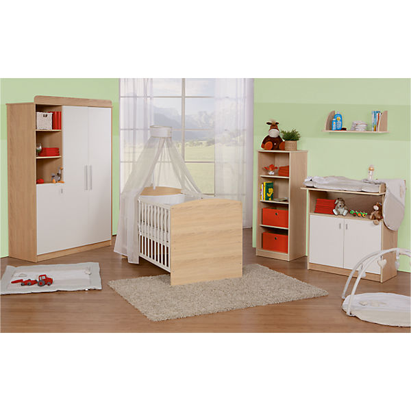 komplett kinderzimmer lena 3 tlg kinderbett wickelkommode und 3 t riger kleiderschrank. Black Bedroom Furniture Sets. Home Design Ideas