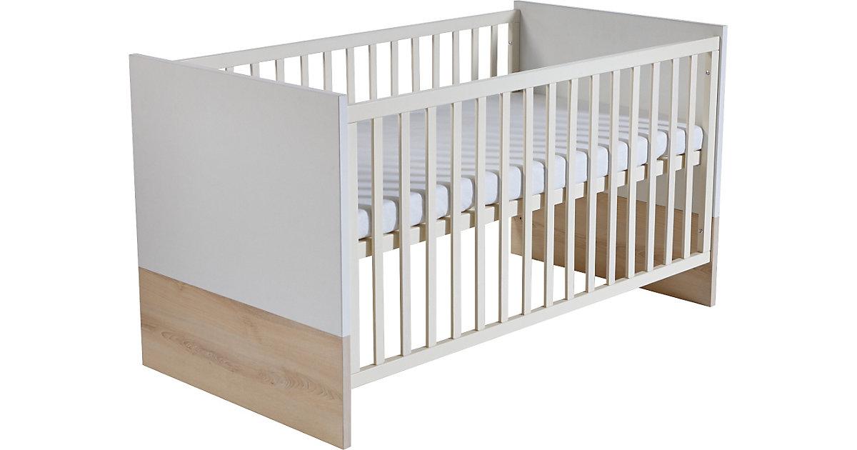 Kinderbett LOTTA, Weiß/Südesche, 70 x 140 cm weiß
