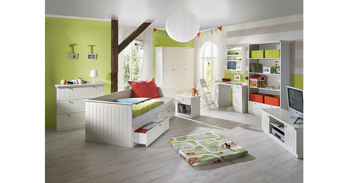 Komplett Jugendzimmer Dreamworld 2, 3-tlg. (Jugendbett, Kommode, Kleiderschrank 3-türig), weiß Gr. 90 x 200