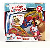 Набор доктора в пластиковом чемодане, Маша и Медведь, Играем вместе, в ассортименте