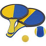 Klettballspiel, 2 Schläger, 2 Bälle
