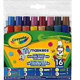 16 мини-фломастеров с узорными наконечниками, Crayola