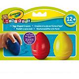 Восковые мелки в форме яйца, 3 цвета, Crayola