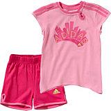adidas Performance Baby Sommer Set: T-Shirt + Shorts für Mädchen