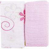 Муслиновые пеленки, Baby Nice, розовый (2 шт.)