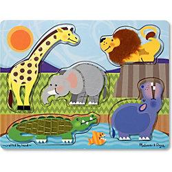 """Рамка-вкладыш """"Зоопарк"""", 5 деталей, Melissa & Doug"""