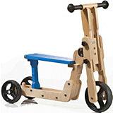 Roller & Laufrad Scooter 2in1 , Buche, natur/blau