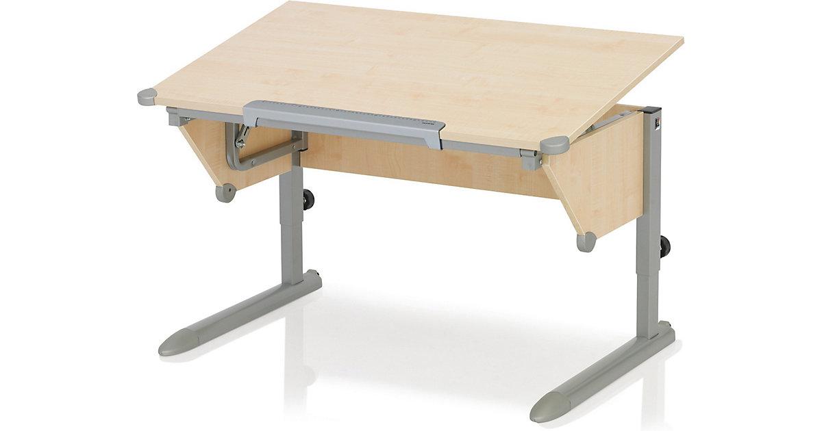 Schreibtisch Cool Top II, Ahorn/silber kolonial