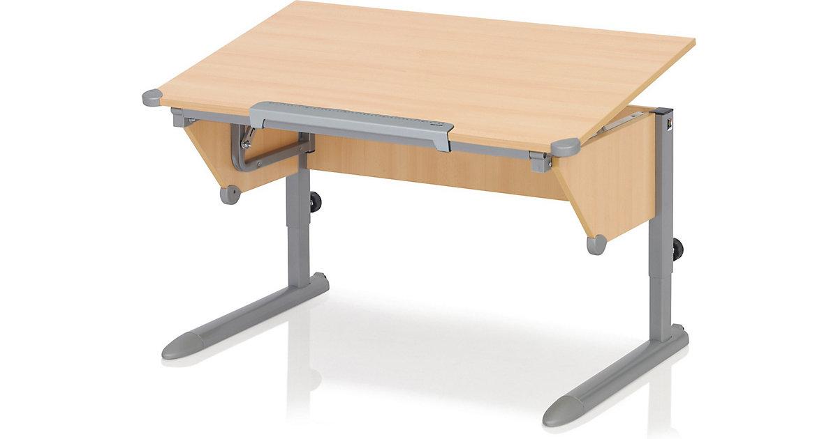 Schreibtisch Cool Top II, Buche/silber braun