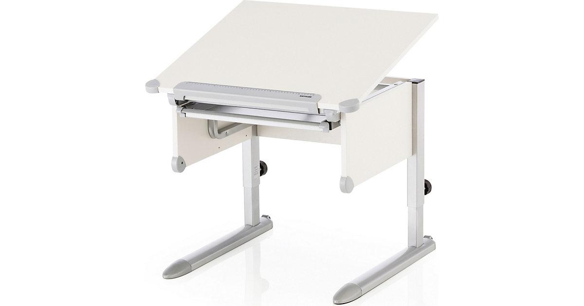 Schreibtisch Little, weiß/silber