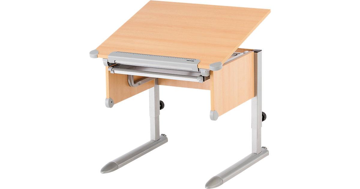 Schreibtisch Little, Buche/silber braun