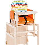 Sitzpolster für Kombi Hochstuhl TX IV, orange gestreift