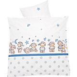 Babybettwäsche Schlafmütze, blau, 80 x 80 cm