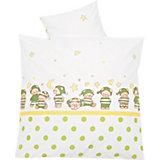 Bettwäsche Schlafmütze, grün, 80 x 80 cm