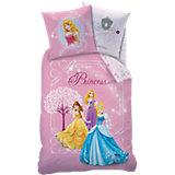 Kinderbettwäsche Disney Princess, Pluie d Etoiles, Linon, 135 x 200 cm