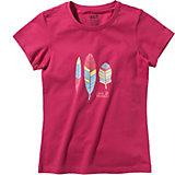 JACK WOLFSKIN T-Shirt FOLIAGE für Mädchen, Organic Cotton