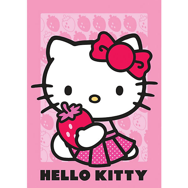 Kinderteppich Hello Kitty, Strawberry, 95 x 133 cm