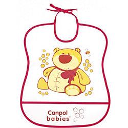 Пластмассовый мягкий нагрудник Медвежонок, Canpol Babies