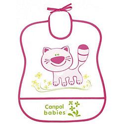 Пластмассовый мягкий нагрудник Котёнок, Canpol Babies