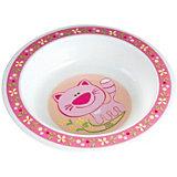 Тарелка Котёнок, 270 мл.,Canpol Babies, розовый