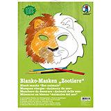 Kreativset Blanko-Masken Zootiere