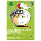 Kreativset Blanko-Masken Märchen, 6 Stück