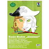 Kreativset Blanko-Masken Abenteuer, 6 Stück