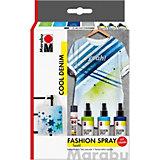 Fashion-Spray Cool Denim Textilsprühfarbe, 4-tlg.