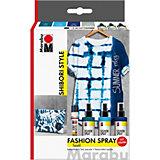 Textilgestaltungsset HOT SUMMER, 4 x 15 ml inkl. Pinsel & Fashionliner