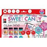 Textilgestaltungsset SWEET CANDY, 4 x 15 ml inkl. Pinsel & Fashionliner