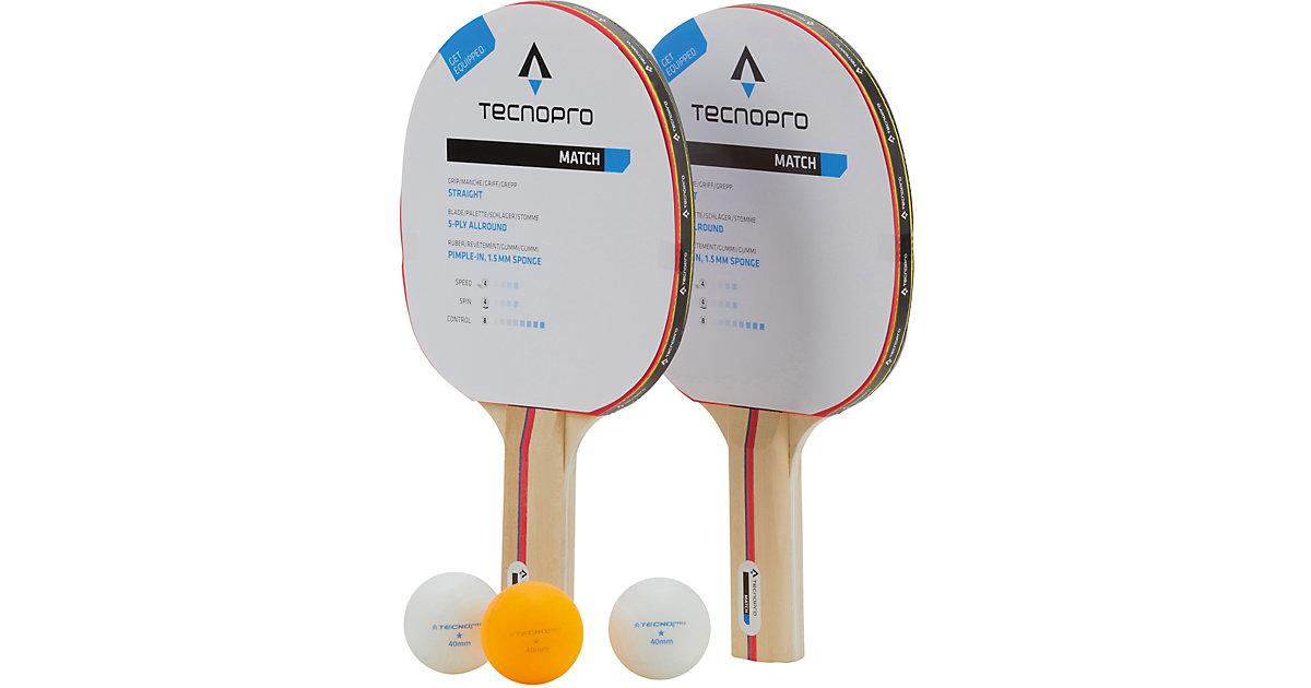 Tischtennisschläger Set Match DX weiß