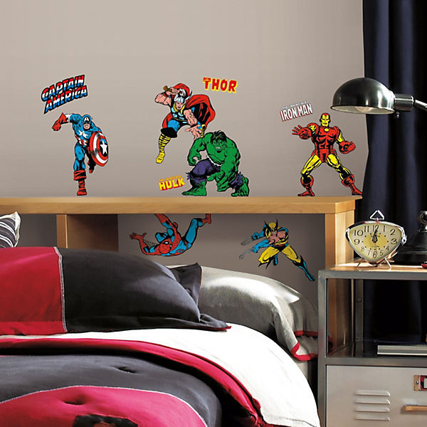 Wandsticker Marvel, Classic, 32-tlg.