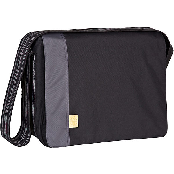 Wickeltasche, Casual, Messenger Bag, Solid black
