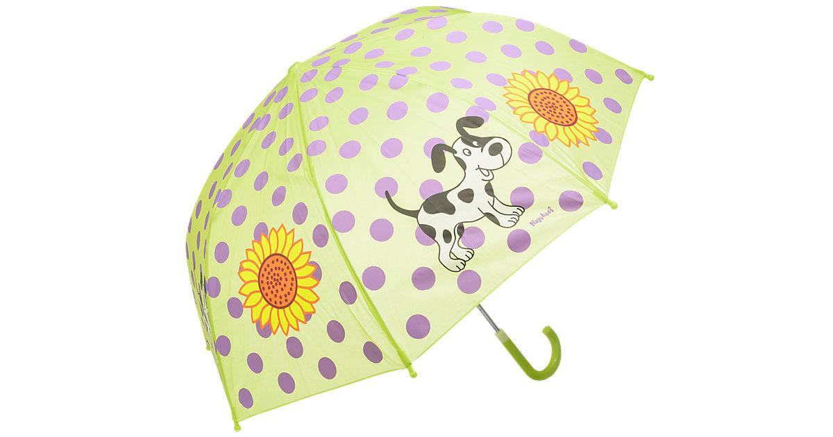 Kinder Regenschirm große Punkte grün