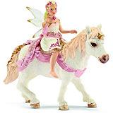 Schleich Elfen: 70501 Lilienzarte Elfe, auf Pony reitend