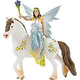 Schleich Elfen: 70516 Eyela in festlicher Kleidung, reitend