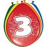 Zahlenluftballon 3, 8-tlg.