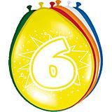 Zahlenluftballon 6, 8-tlg.