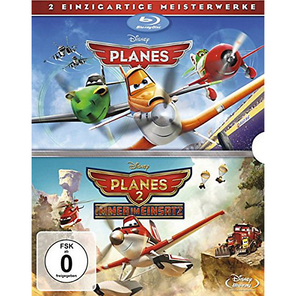 BLU-RAY Planes + Planes 2 Doppelpack