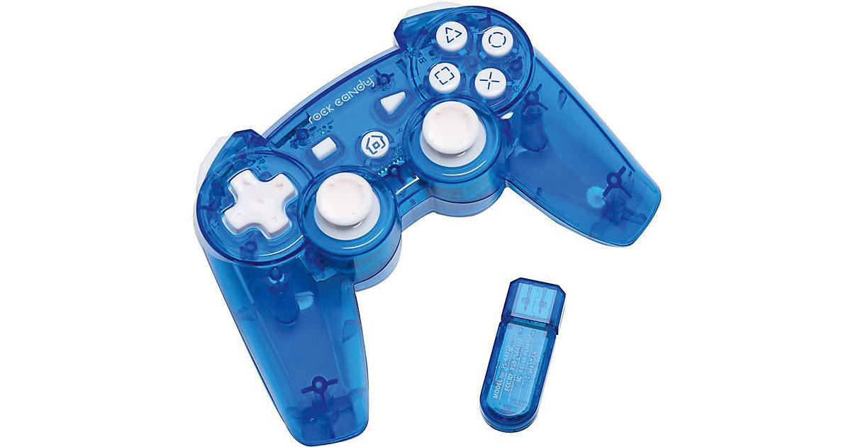 PS3 Wireless Controller Rock Candy - blau