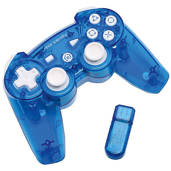 PS3 Wireless Controller Rock Candy - blau