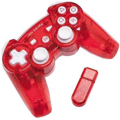 PS3 Wireless Controller Rock Candy - rot