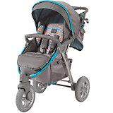 Прогулочная коляска Happy Baby Neon Sport, серый/голубой
